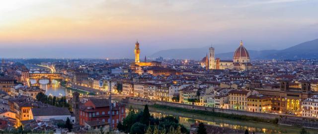 Florencia al atardecer
