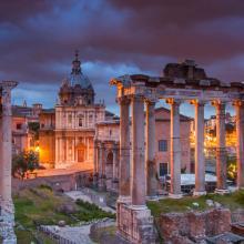 Atardecer en el Foro Romano