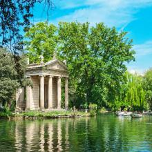 Lago en Villa Borghese