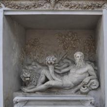 Estatua en Villa Giulia